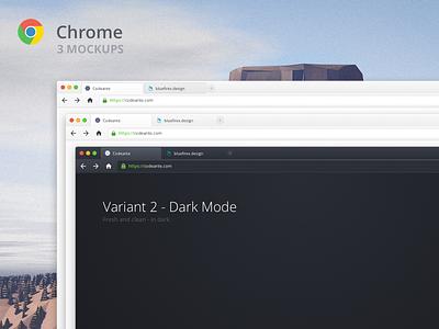 Chrome for Mac - 3 Mockups [.sketch] chrome mockup mac sketch