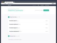 Webfonts-Generator