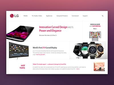 [Mockup] LG Website mockup lg website company sketch