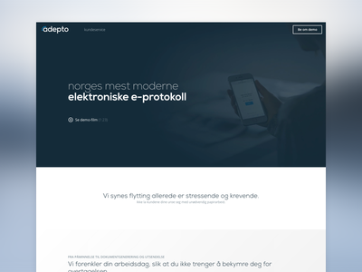 Adepto - Landing Page norway promo page landing adepto
