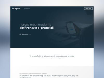 Adepto - Landing Page