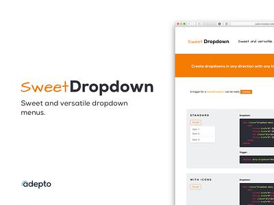SweetDropdown - jQuery Library webpage website adepto sweet dropdown plugin library landing jquery code