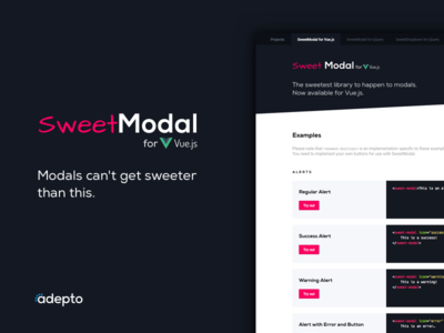 SweetModal for Vue.js vue.js dialog modal sweet sweetmodal vue library