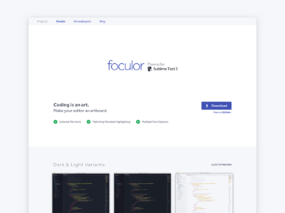 foculor - Theme for Sublime Text 3