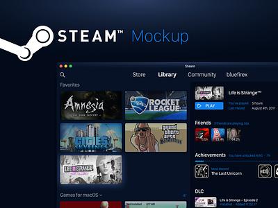 Steam - Mockup life is strange dark application app mac games collection library mockup steam
