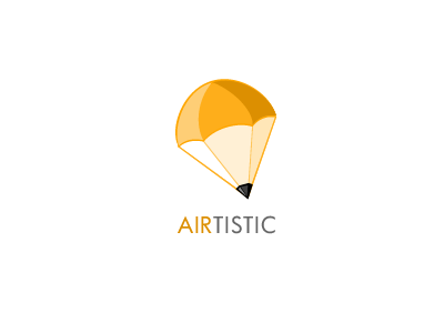 Airtistic Logo pencil parachute logo
