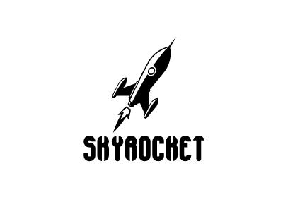 Skyrocket Logo rocket logo black and white