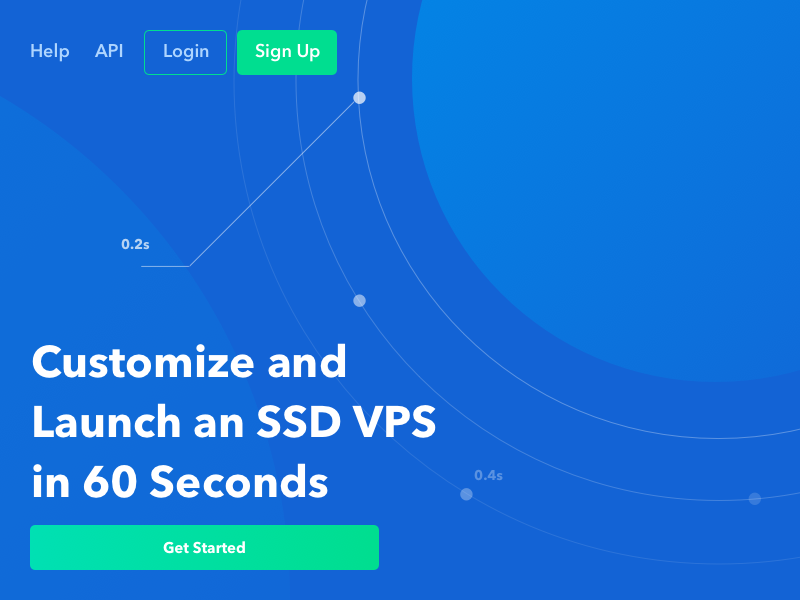 Digital Hosting banner ux ui ad promo api blue space dashboard web hosting