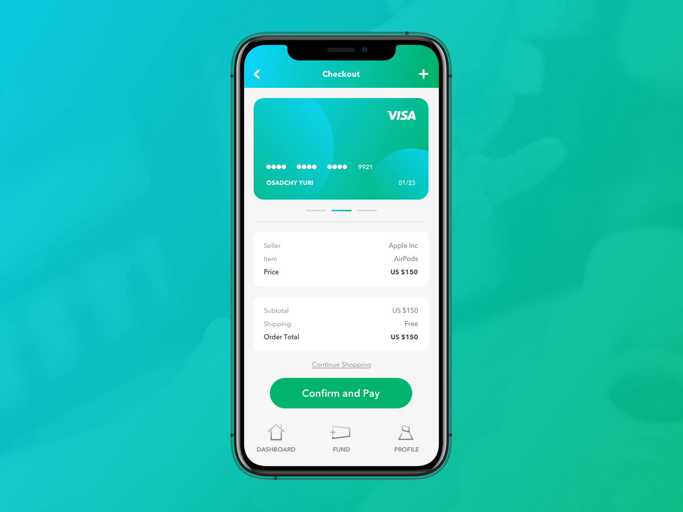 Finance App inputs credit card layout green ui ux app finance