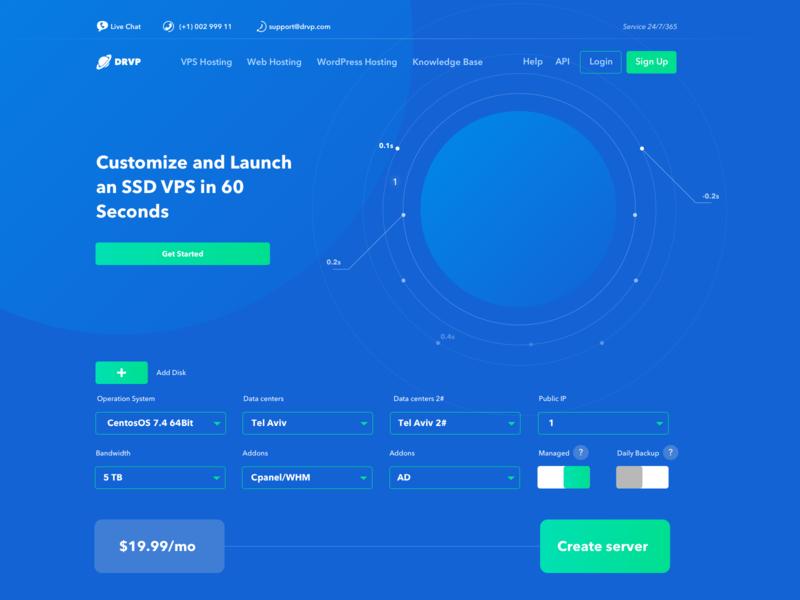 Digital Hosting 2# site blue web branding space ui ux dashboard hosting