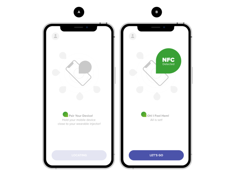 NFC Connect minimal white bluetooth care medical app app connect nfs
