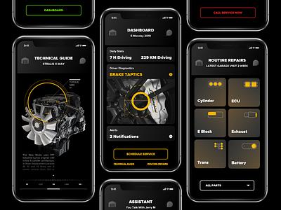 Vehicle Intelligence App ui ios black dashboard app intelligence vehicle