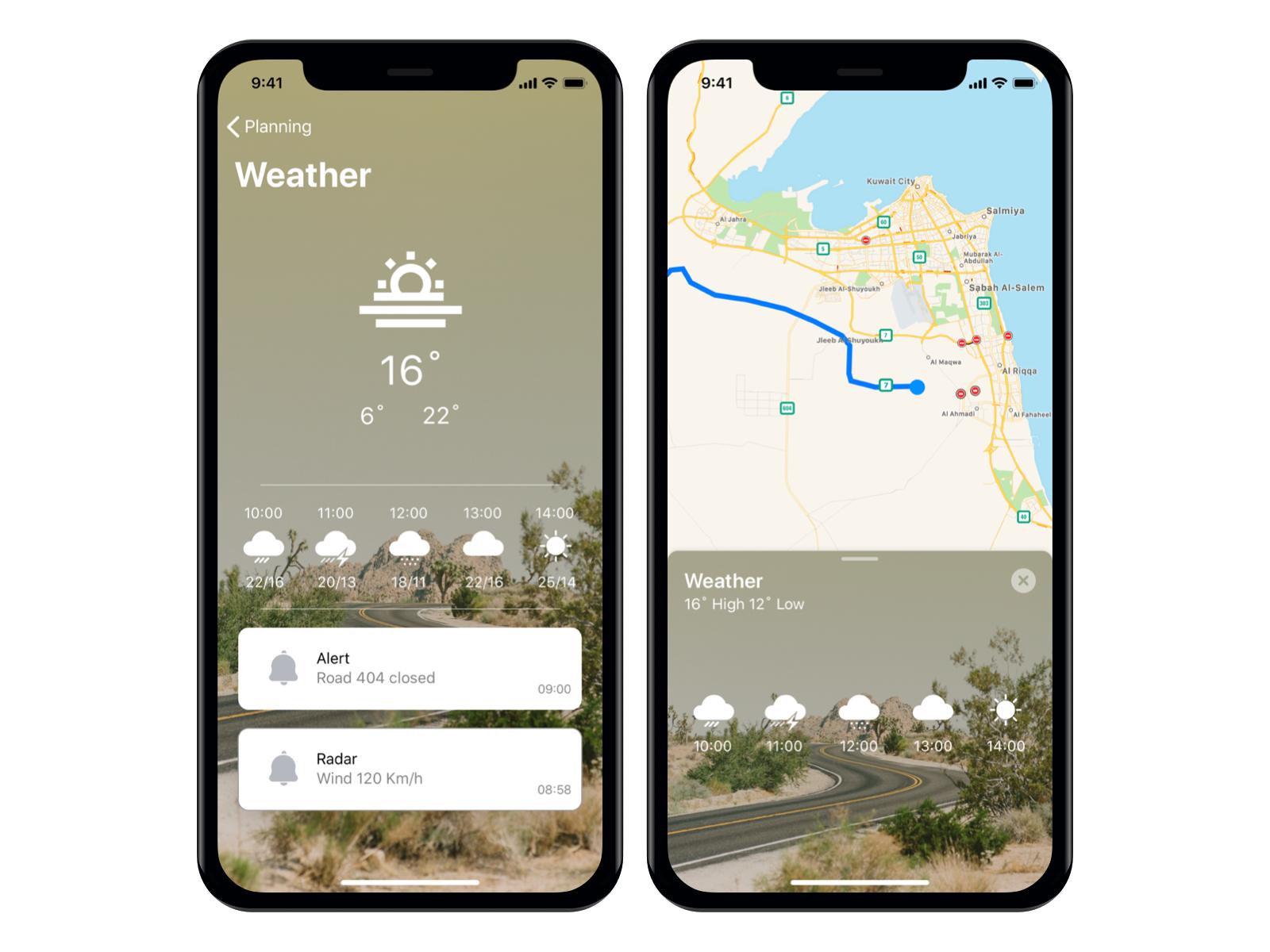 Weather App map nav mobile ux ui app weather sketch