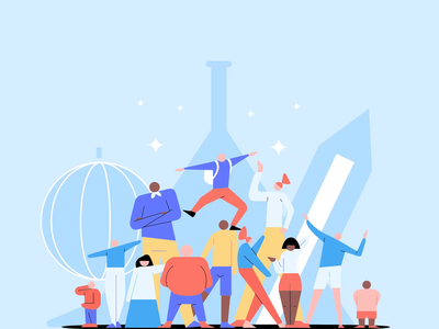 Brainly Community - New Home Page Animation 2d svg illustration design brainly character animation