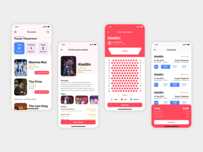 Theatre App - User Interface