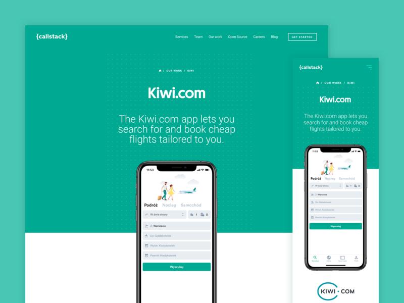 Kiwi.com - showcase showcase mobile web ui