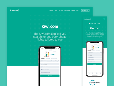 Kiwi.com - showcase showcase mobile web ui