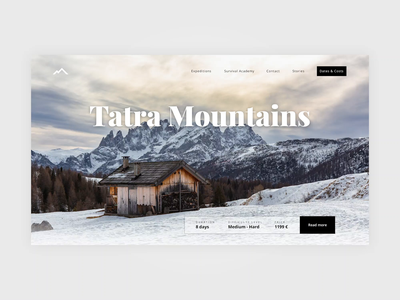 Survival trips - Tatra Mountains page interaction web ui parallax landing