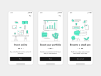 Investment app onboarding
