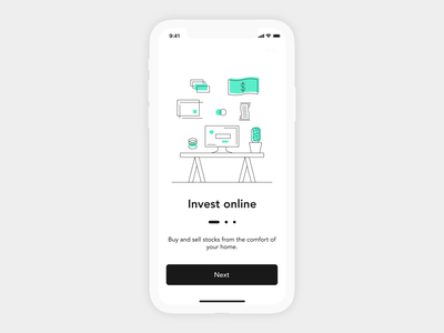Investment App Onboarding Animation investment sketch onboarding prototype design motion ios app illustration ae animation mobile ui