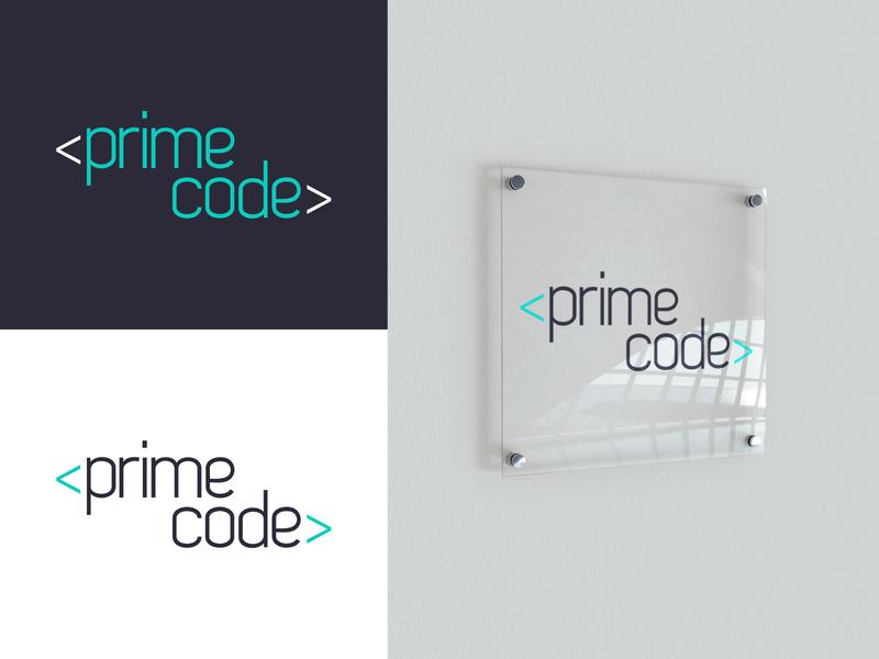 Prime Code Logo logotype identity brand icon icon symbol mark logo design aqua software logo branding brand identity logodesign logo software development software