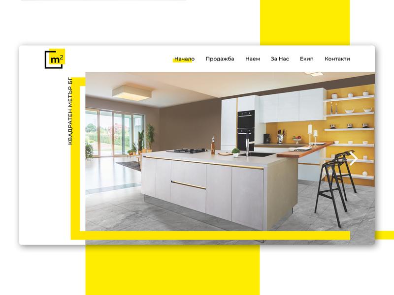 m2 Real Estates estates uidesign branding color bars landing page design landing page web ui web design website design minimalistic modern yellow white real estate realestate ui design website web design webdesign ui