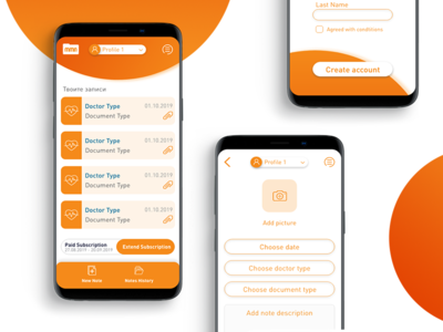 MMN - Healthcare Mobile App user interface orange mobile app design mobile app healthcare mobiledesign uidesign ui mobile