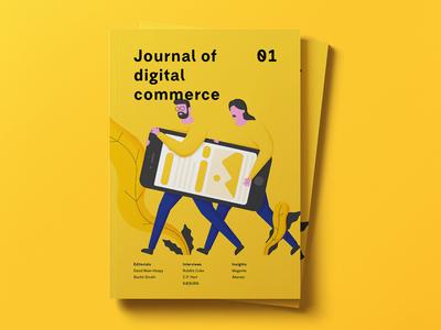 Illustrations for Journal of Digital Commerce