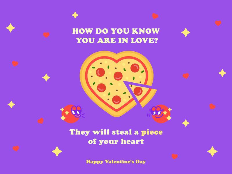 Pizza Lovers valentinesday vectorart vectors love pizzeria logodesign food pizza flatdesign doodles doodleart doodle logo icon flaticons brand flat branding