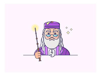 Harry Potter - Albus Dumbledore doodleaday doodles doodleart doodle illustraion vector branding brand icon flatdesign harrypotter flaticons flat