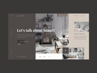Homepage for interior agency