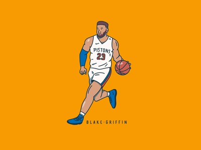 Blake athlete person character procreate illustration nba basketball pistons detroit pistons detroit blake griffin
