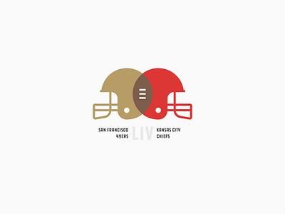 Super Bowl 54 kansas city cheifs san francisco 49ers super bowl superbowl san francisco 49ers nfl kansas city modern minimal football helmet football chiefs