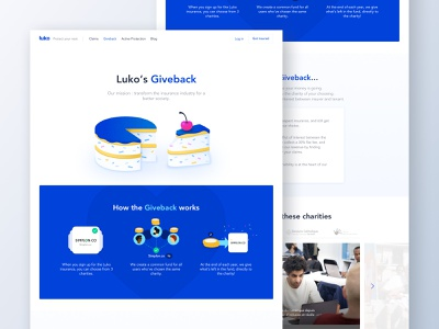 Giveback 💙 luko landing landing page graphic design giveback illustration branding