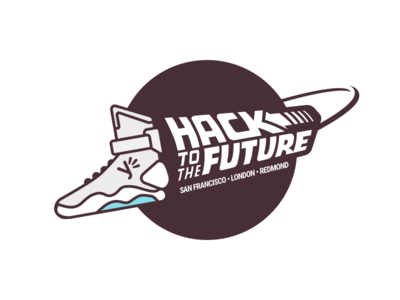 Yammer Hackday 2015 t-shirt film back to future forfun hackday logo illustration clothes t-shirt yammer
