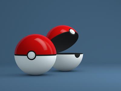 Pokemon Mobile Wallpaper anyone? c4d render model 3d wallpaper freebie pokemon pokeball