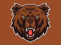 Bear Head Mascot Logo