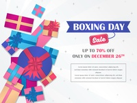 Boxing Day Sale Banner Discount