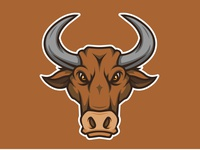 Bull Head Mascot Logo