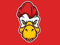 Chicken Head Mascot Logo
