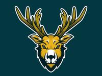 Deer Head Mascot Logo