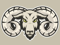 Goat Head Mascot Logo