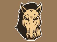 Horse Head Mascot Logo