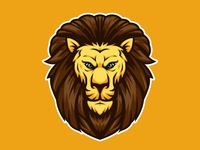 Lion Head Mascot Logo