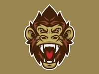 Monkey Head Mascot Logo