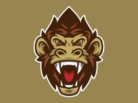 Monkey Head Mascot Logo