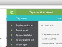 web tool UI