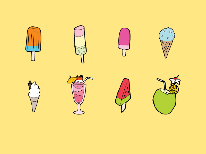 Summer Time  icecream summer illustration drawing