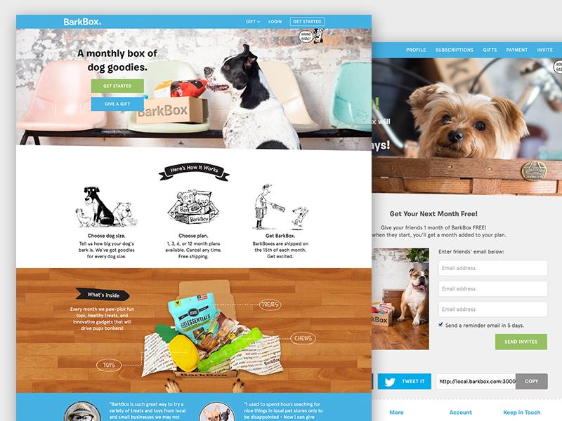 Barkbox site redesign subscribe fun clean pet dog ux ui web design