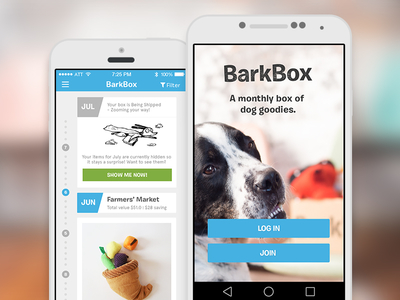 BarkBox app android ios box dog subscription app mobile ux ui